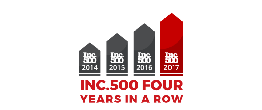 Inc 500 4 years in a row